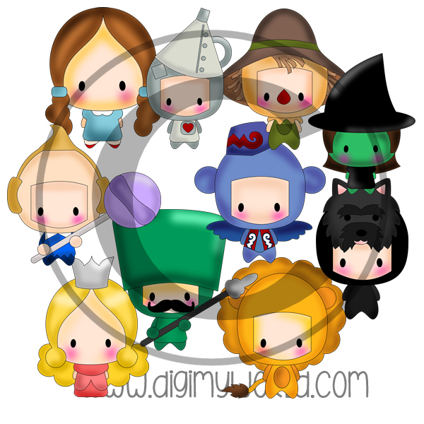 Chibi Kids Dressed As Oz