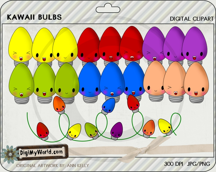 Kawaii Christmas Bulbs