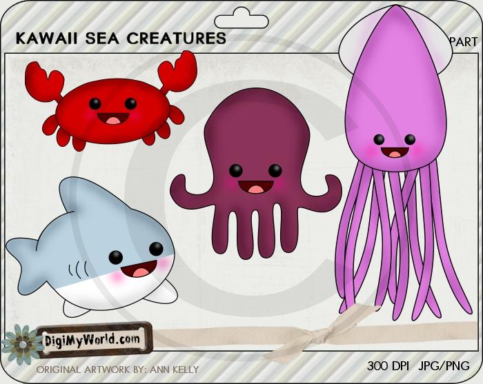 Kawaii Sea Creatures