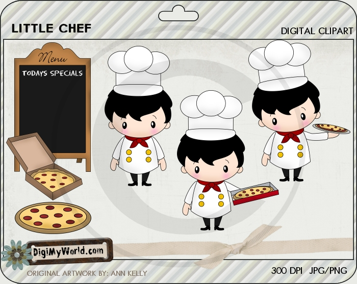 Little Chef Pizza Man (brunette)