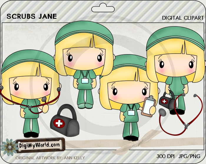 Chibi Scrubs Jane