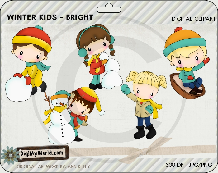 Winter Kids-Bright