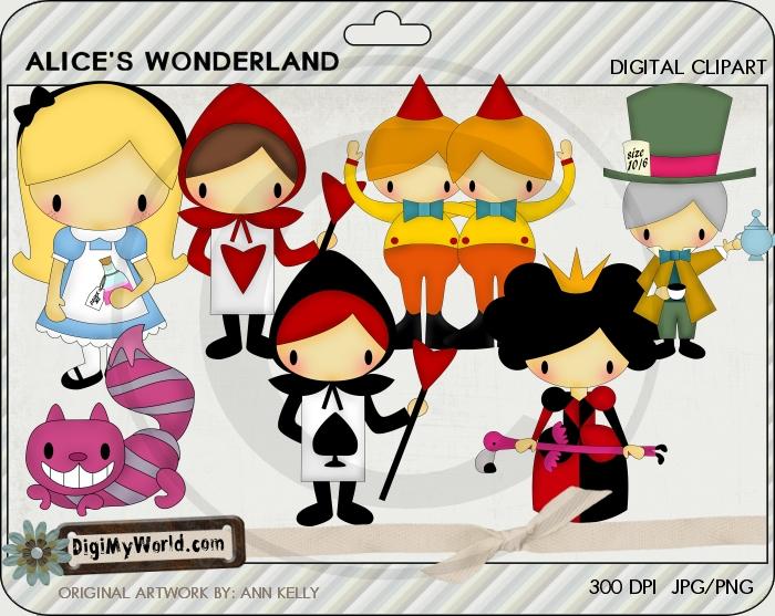 Alices Wonderland Clip art