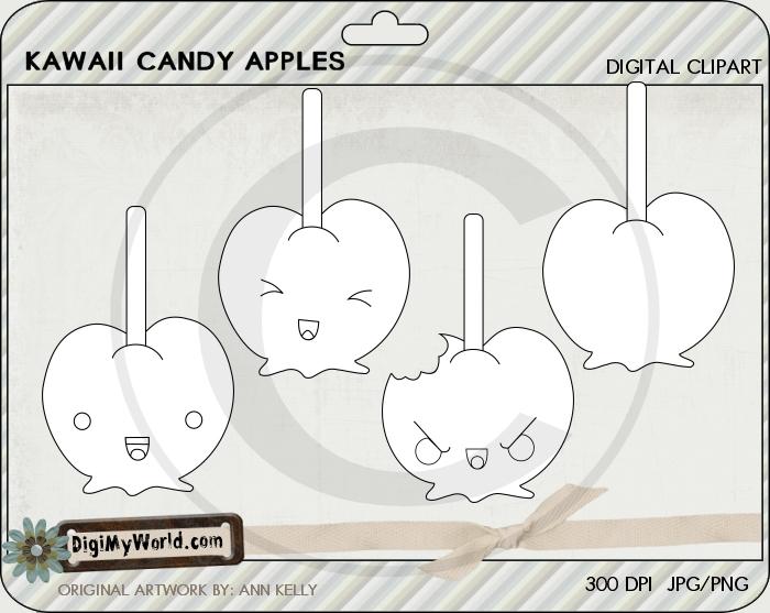 Kawaii Candy Apples