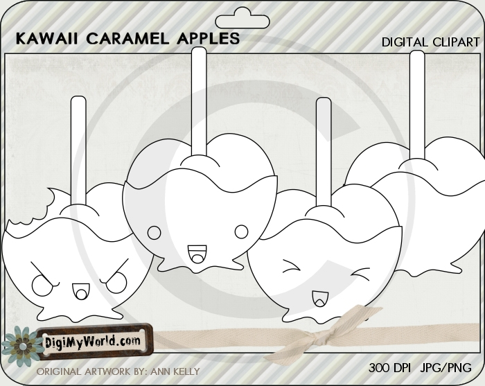 Kawaii Caramel Apples