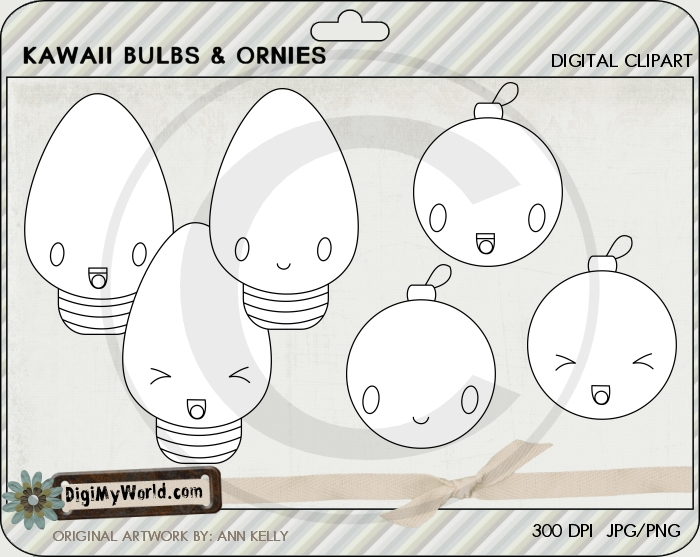 Kawaii Christmas Bulbs and Ornies