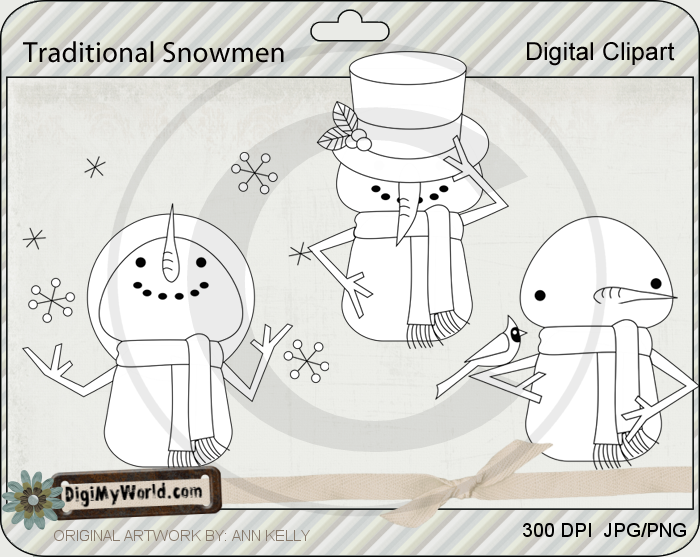 Traditional Snowmen